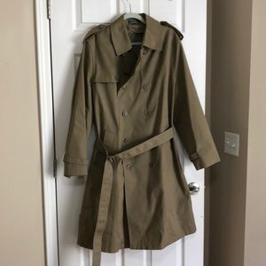 Men's Hill & Archer taupe trench coat